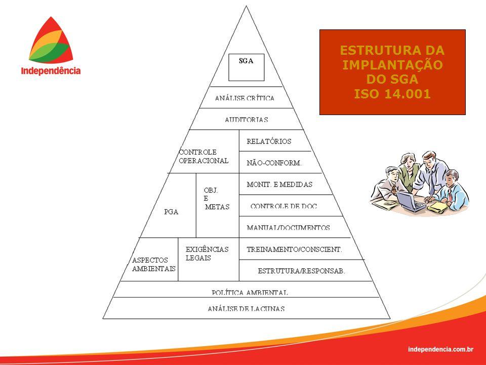 ESTRUTURA DA IMPLANTAÇÃO DO SGA ISO 14.001