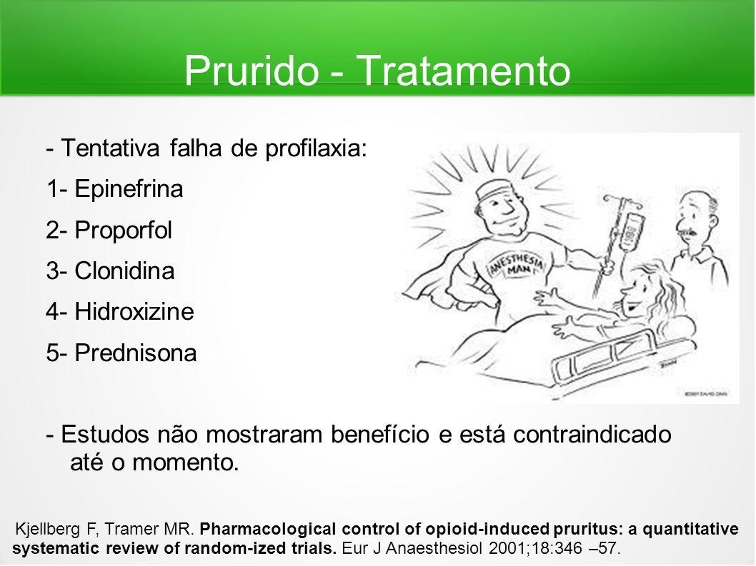 Prurido - Tratamento - Tentativa falha de profilaxia: 1- Epinefrina