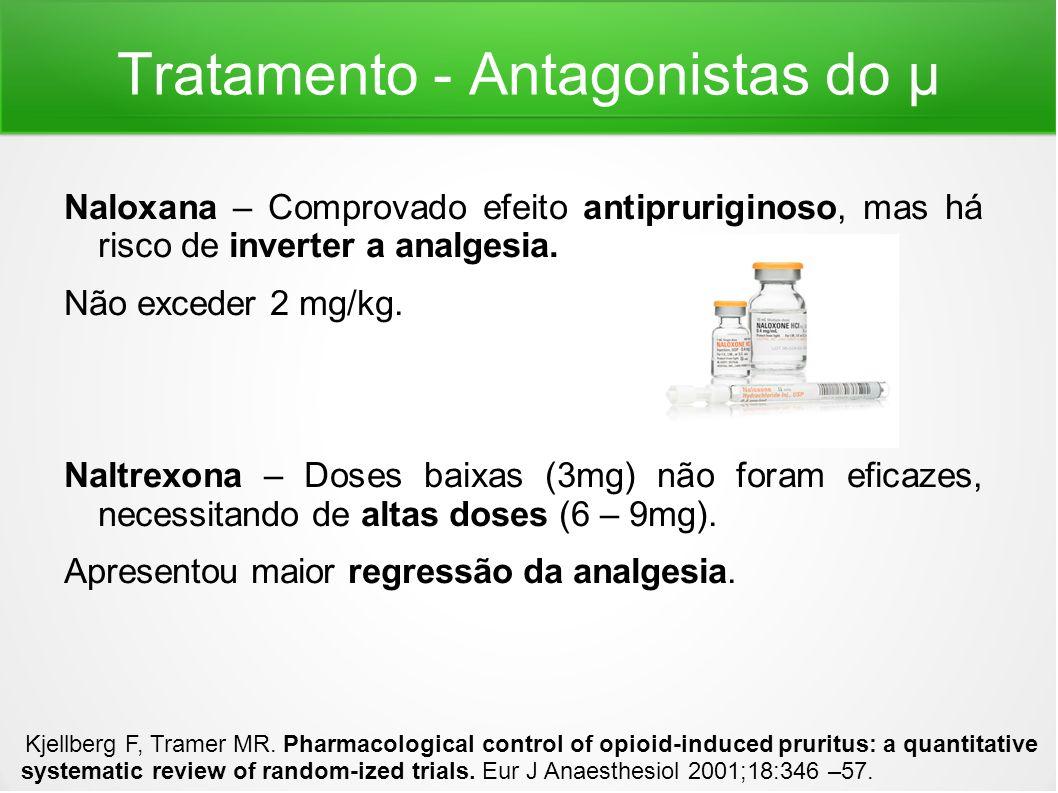 Tratamento - Antagonistas do μ