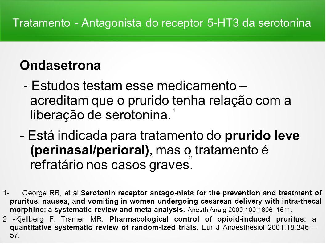 Tratamento - Antagonista do receptor 5-HT3 da serotonina