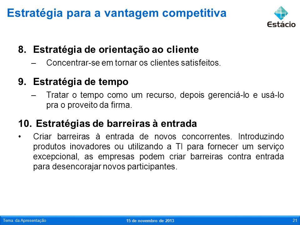 Estratégia para a vantagem competitiva