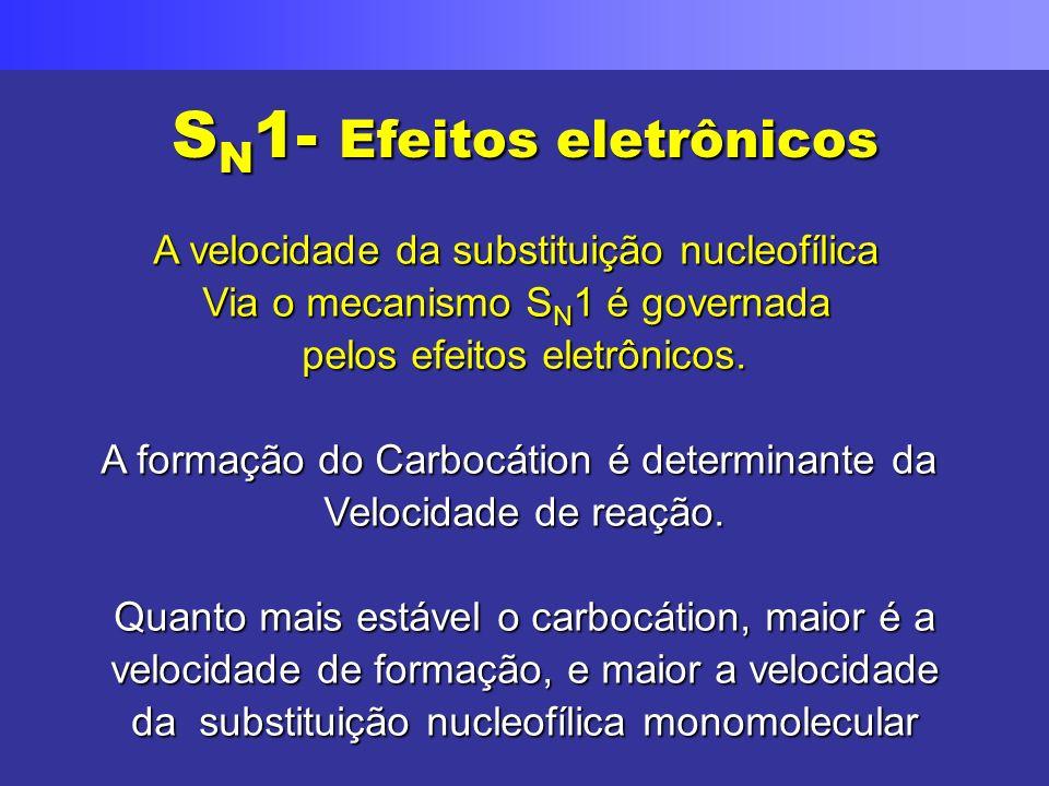 SN1- Efeitos eletrônicos