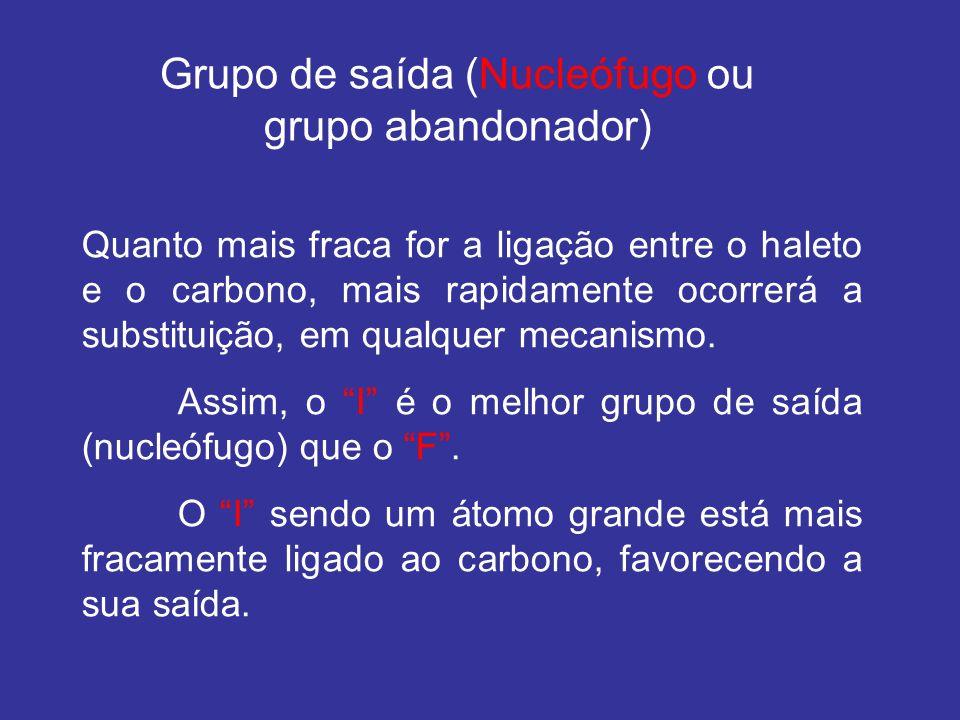Grupo de saída (Nucleófugo ou grupo abandonador)