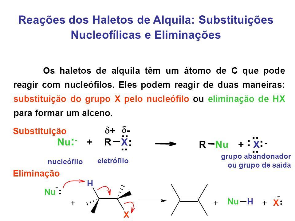 Reações dos Haletos de Alquila: Substituições Nucleofílicas e Eliminações