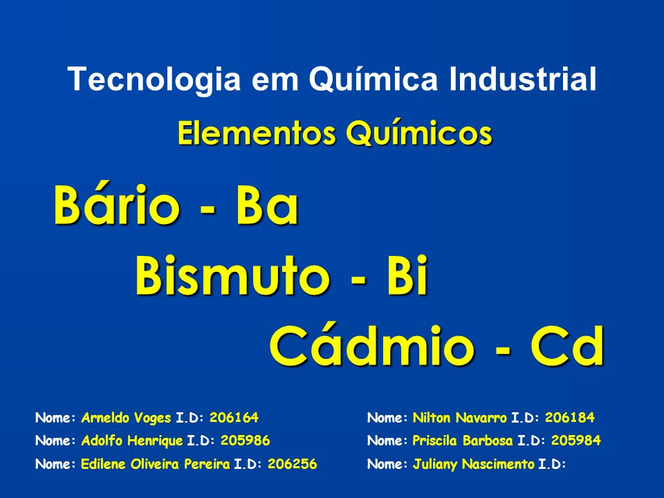 Tecnologia em Química Industrial
