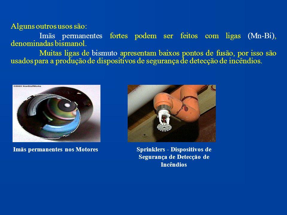 Sprinklers - Dispositivos de Segurança de Detecção de Incêndios