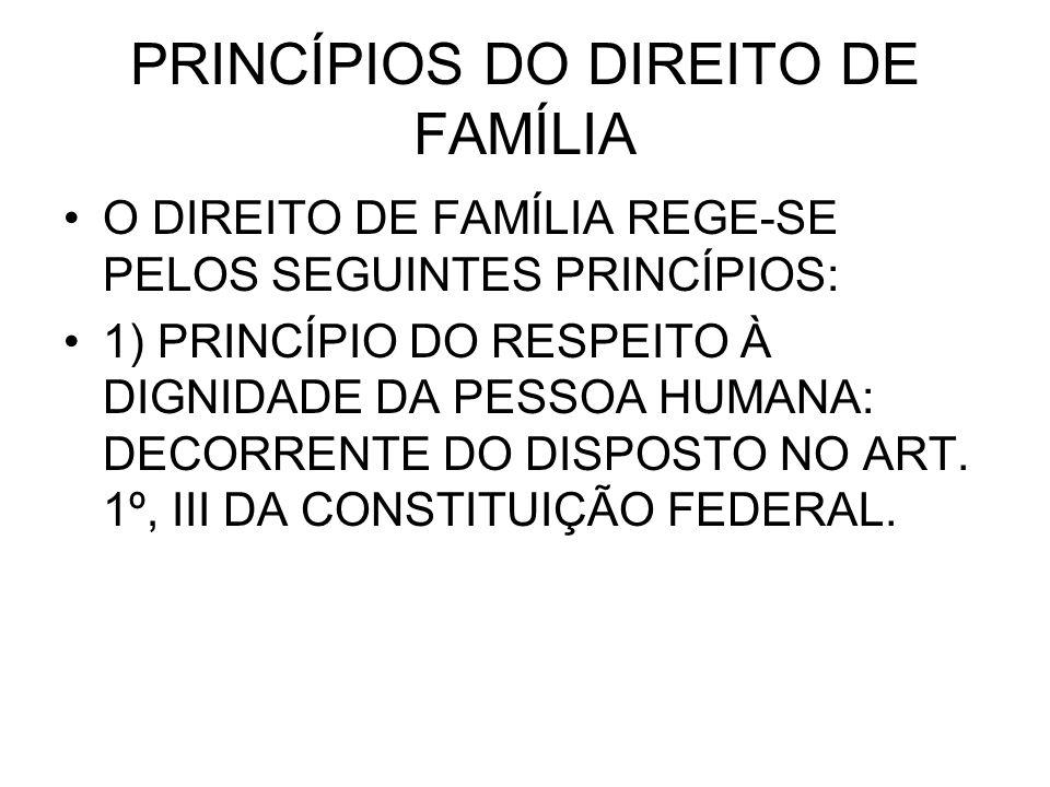 PRINCÍPIOS DO DIREITO DE FAMÍLIA