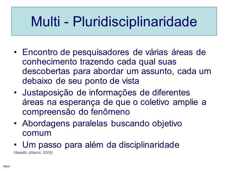 Multi - Pluridisciplinaridade