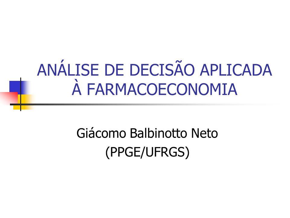 ANÁLISE DE DECISÃO APLICADA À FARMACOECONOMIA