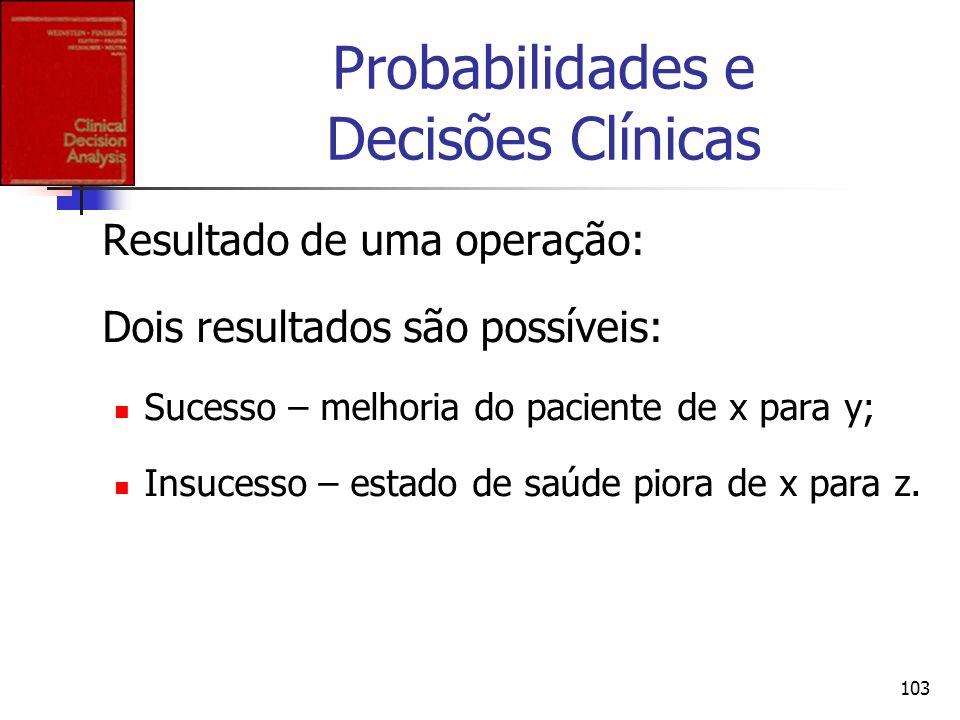 Probabilidades e Decisões Clínicas