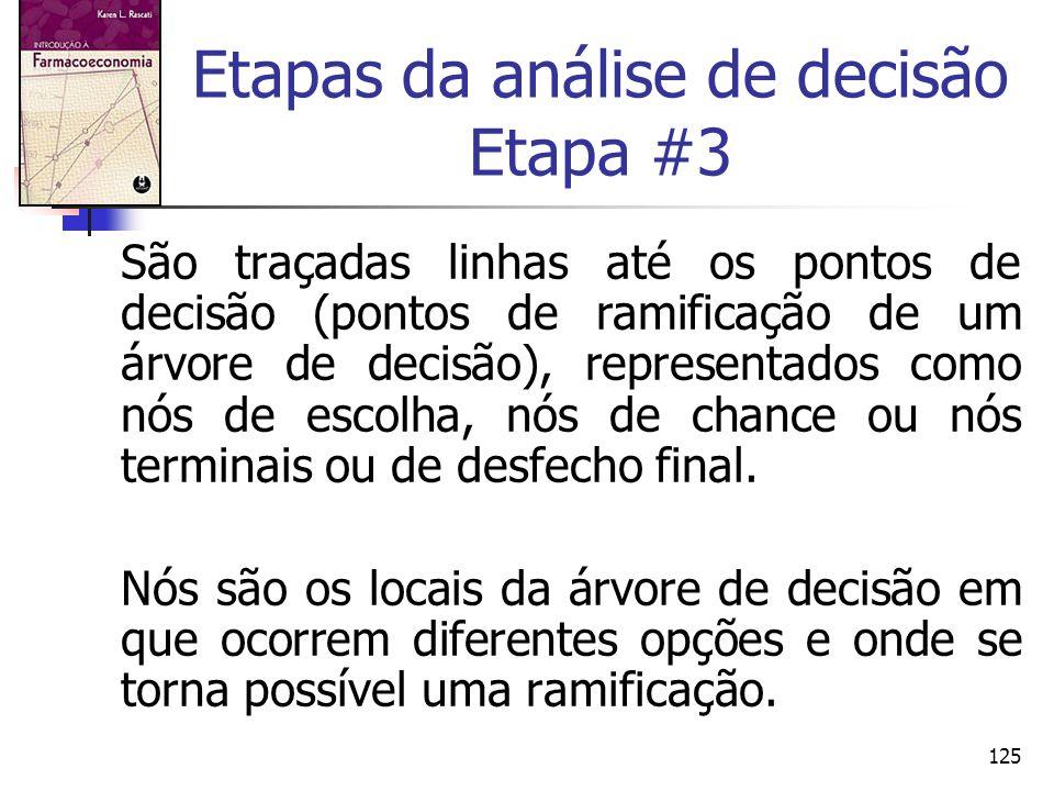 Etapas da análise de decisão Etapa #3