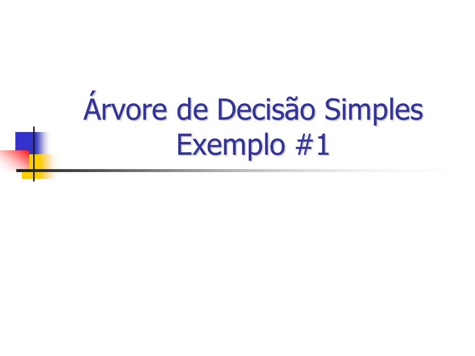 Árvore de Decisão Simples Exemplo #1