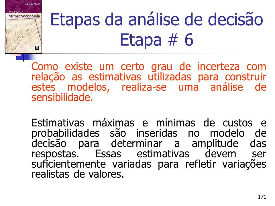 Etapas da análise de decisão Etapa # 6