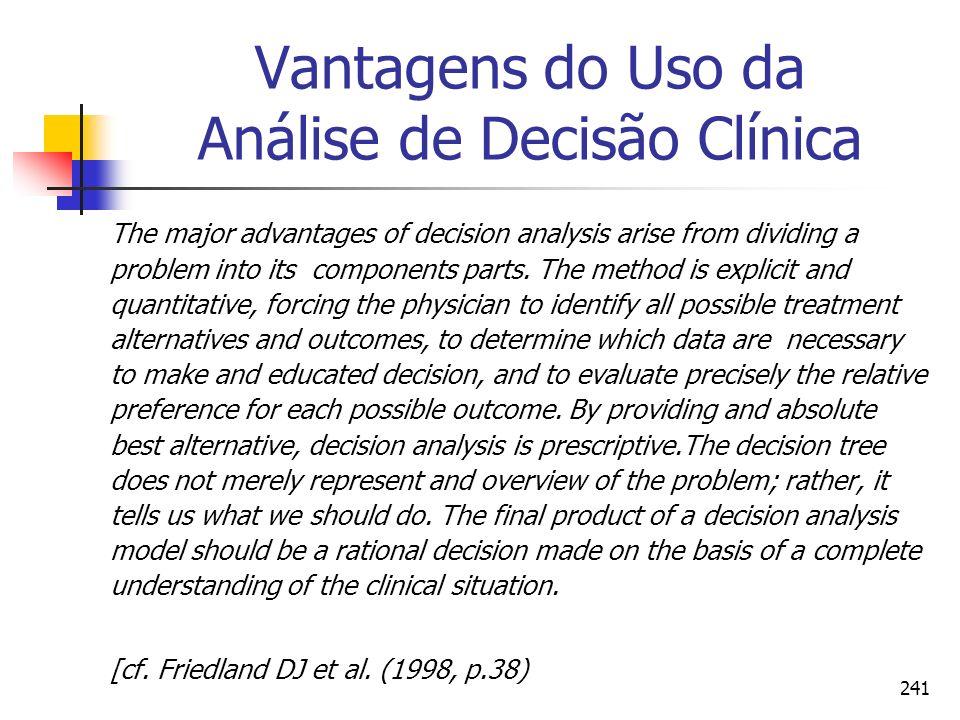 Vantagens do Uso da Análise de Decisão Clínica