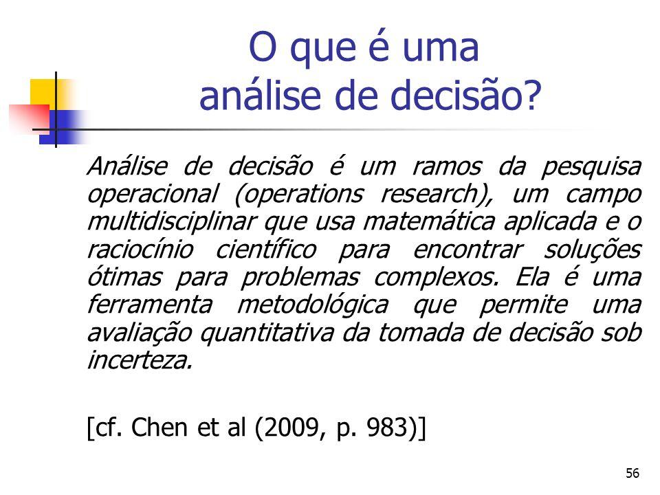 O que é uma análise de decisão