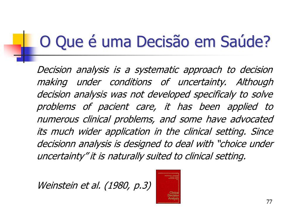 O Que é uma Decisão em Saúde