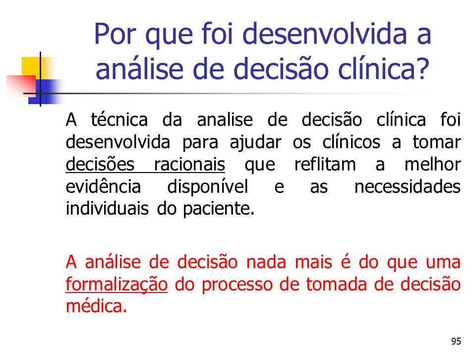 Por que foi desenvolvida a análise de decisão clínica