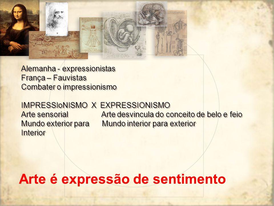 Arte é expressão de sentimento