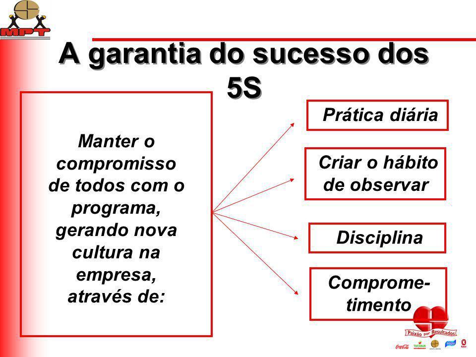 A garantia do sucesso dos 5S