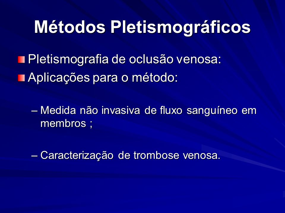 Métodos Pletismográficos