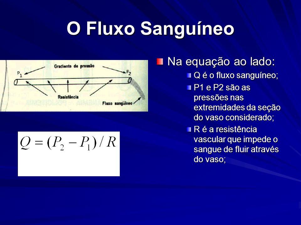 O Fluxo Sanguíneo Na equação ao lado: Q é o fluxo sanguíneo;