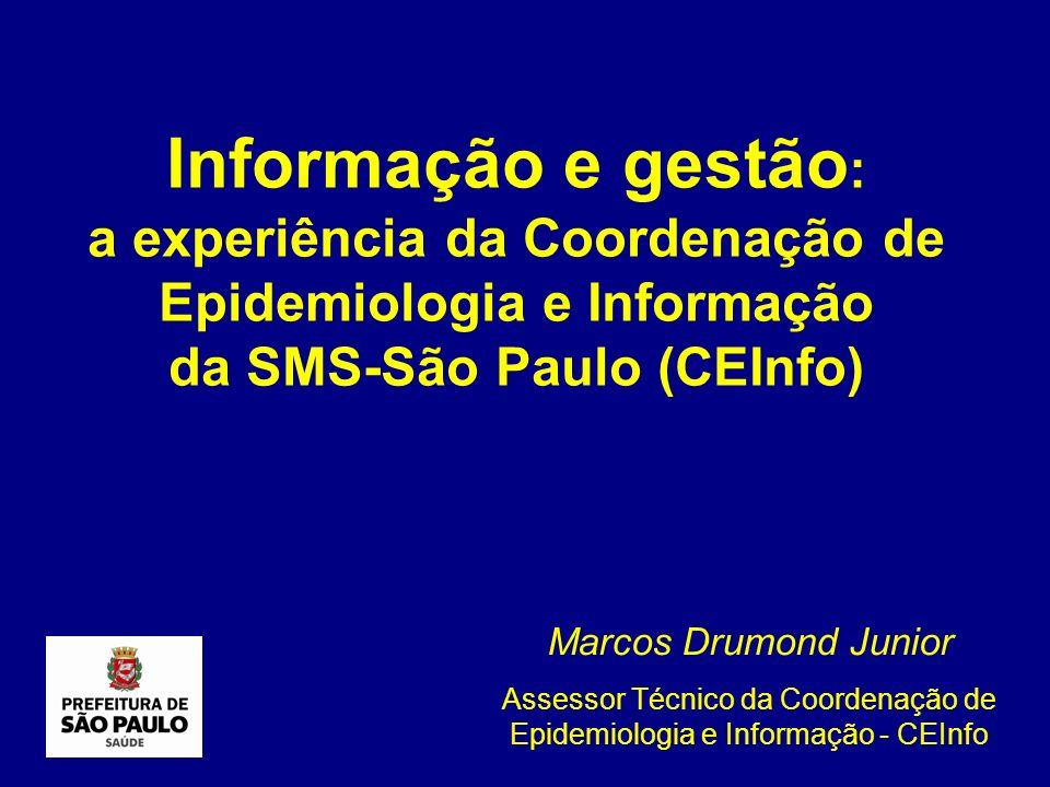 Assessor Técnico da Coordenação de Epidemiologia e Informação - CEInfo