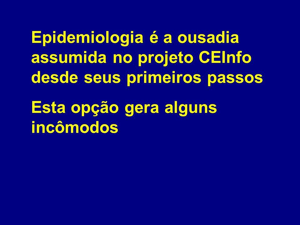 Epidemiologia é a ousadia assumida no projeto CEInfo desde seus primeiros passos