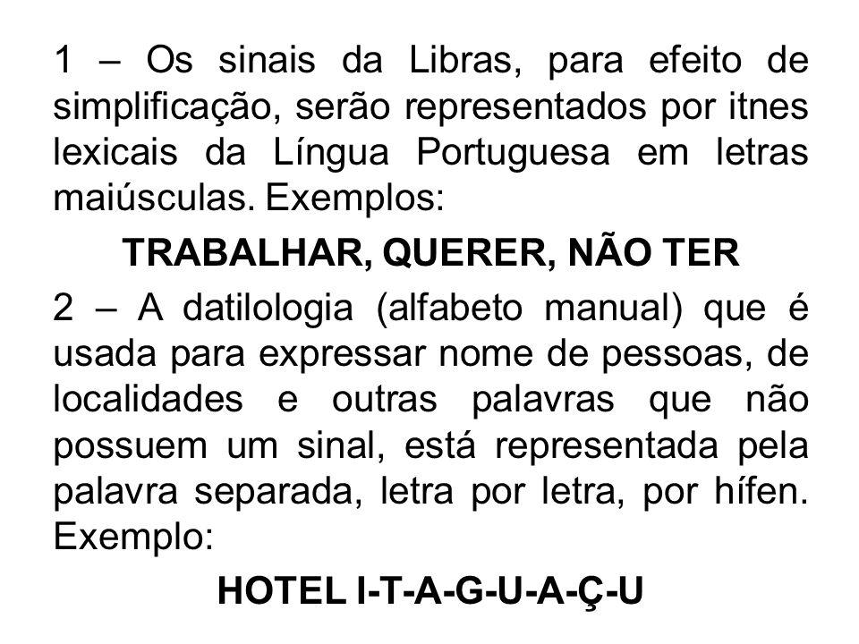TRABALHAR, QUERER, NÃO TER HOTEL I-T-A-G-U-A-Ç-U