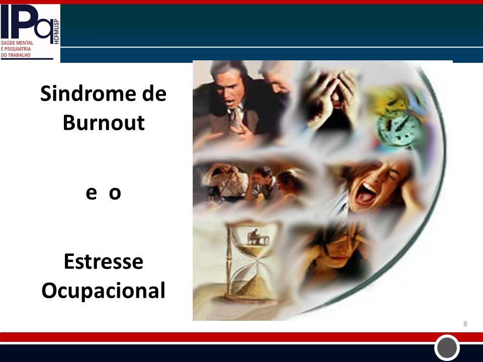 Sindrome de Burnout e o Estresse Ocupacional
