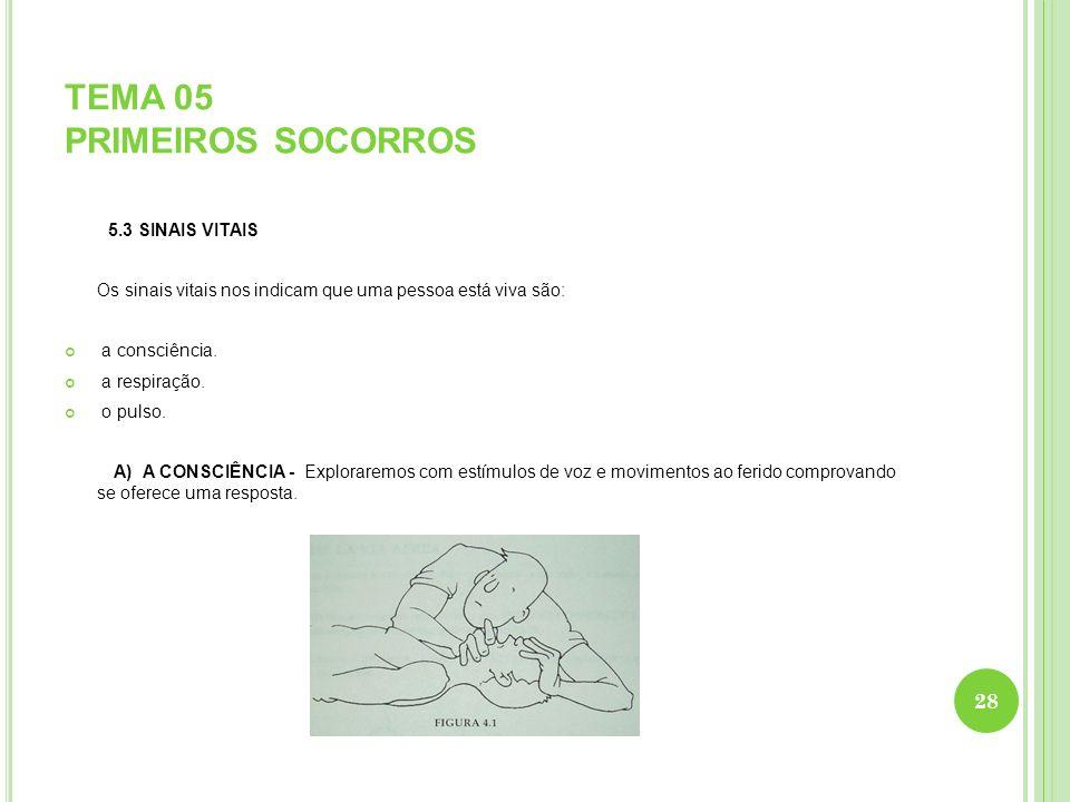 TEMA 05 PRIMEIROS SOCORROS