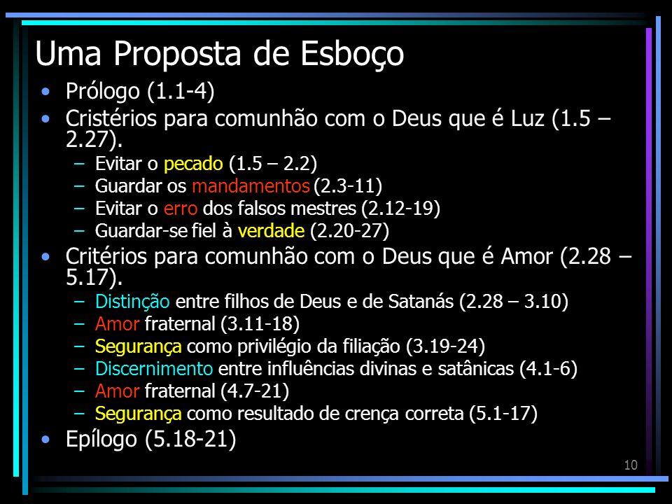 Uma Proposta de Esboço Prólogo (1.1-4)