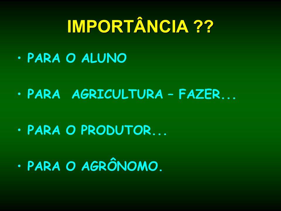 IMPORTÂNCIA PARA O ALUNO PARA AGRICULTURA – FAZER...