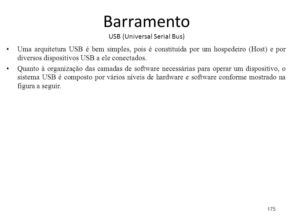 Barramento USB (Universal Serial Bus)