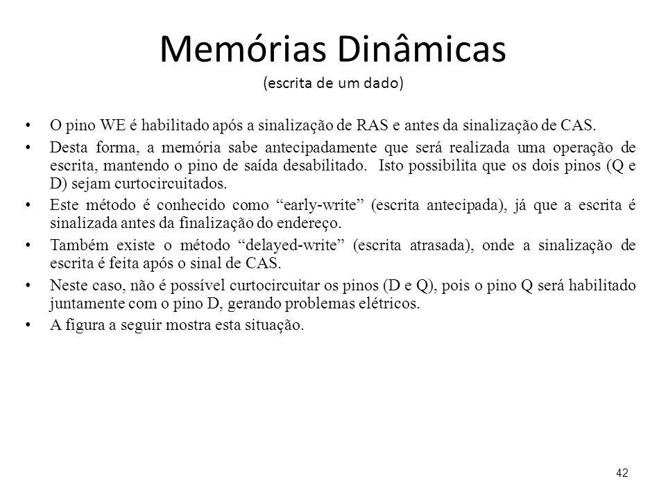 Memórias Dinâmicas (escrita de um dado)