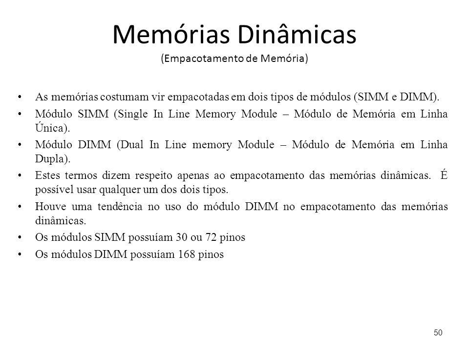 Memórias Dinâmicas (Empacotamento de Memória)