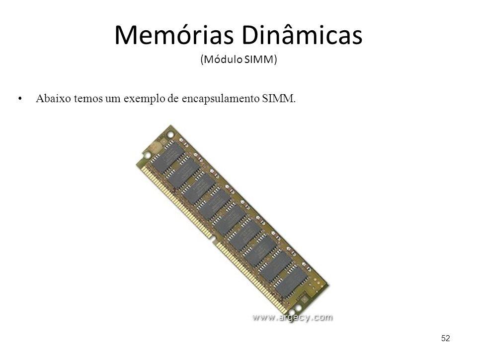 Memórias Dinâmicas (Módulo SIMM)