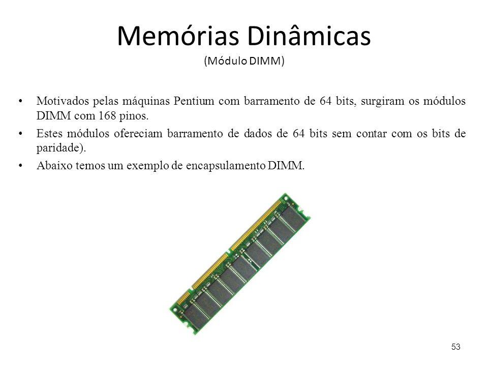 Memórias Dinâmicas (Módulo DIMM)