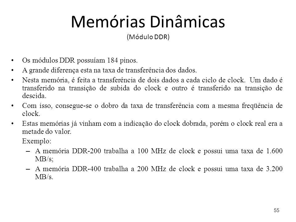 Memórias Dinâmicas (Módulo DDR)