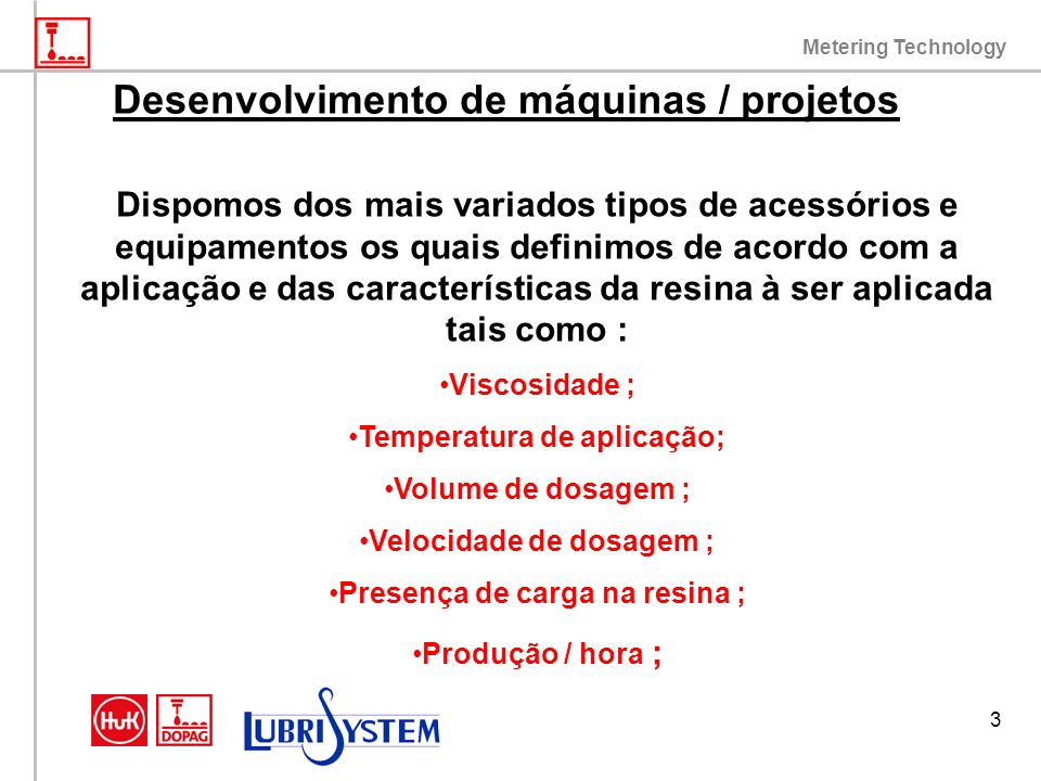 Desenvolvimento de máquinas / projetos