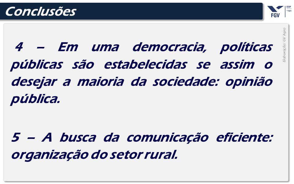 5 – A busca da comunicação eficiente: organização do setor rural.