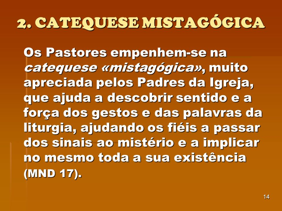 2. CATEQUESE MISTAGÓGICA