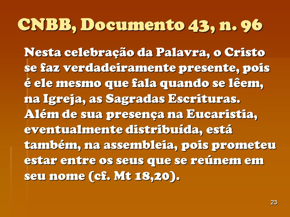 CNBB, Documento 43, n. 96