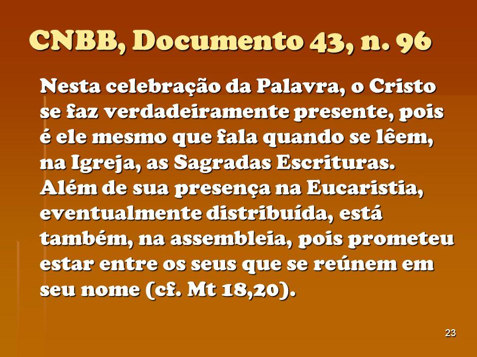 CNBB, Documento 43, n. 96