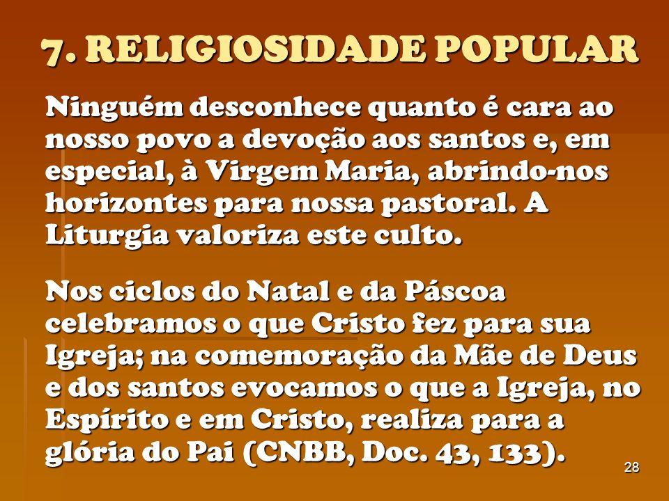 7. RELIGIOSIDADE POPULAR
