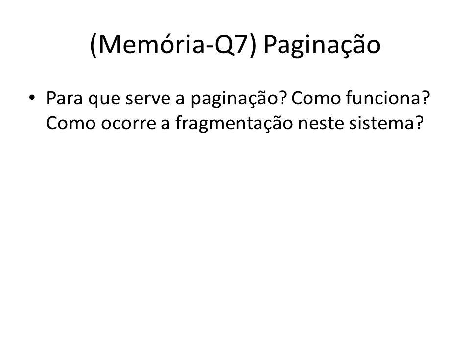 (Memória-Q7) Paginação