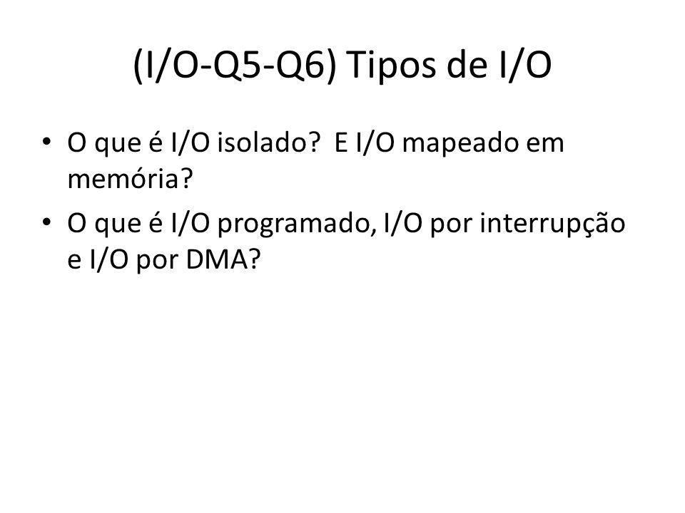 (I/O-Q5-Q6) Tipos de I/O O que é I/O isolado. E I/O mapeado em memória.