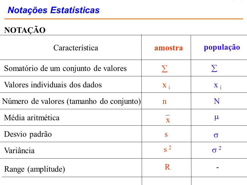 Notações Estatísticas