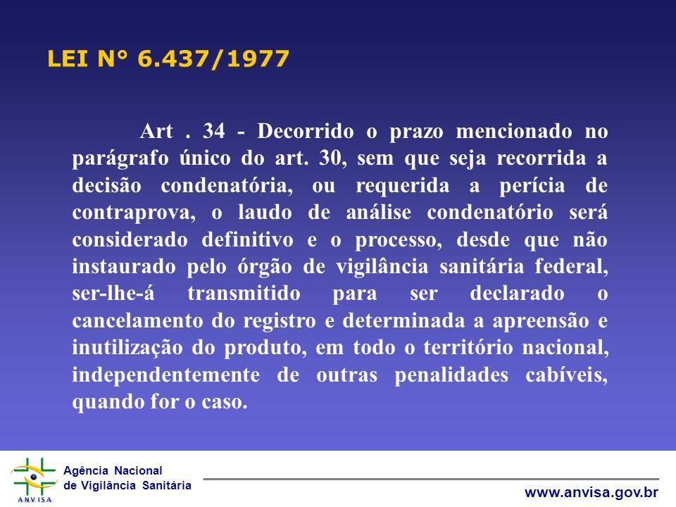 LEI N° 6.437/1977