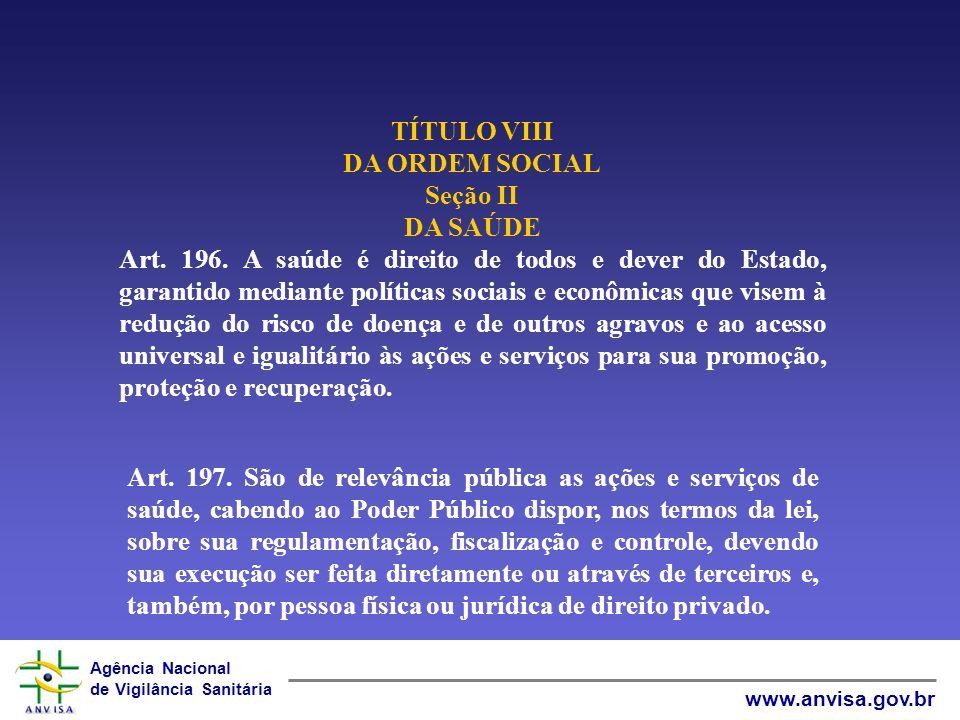 TÍTULO VIII DA ORDEM SOCIAL. Seção II DA SAÚDE.