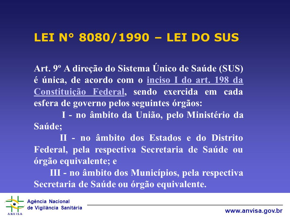 LEI N° 8080/1990 – LEI DO SUS